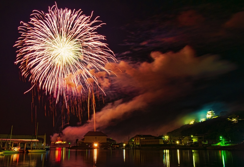 Fireworks over the bay - festivals and events in Rockland Maine
