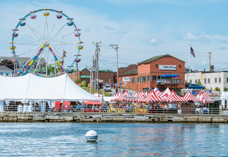 Rockland Festivals & Events Maine - Maine Lobster Festival view from the bay
