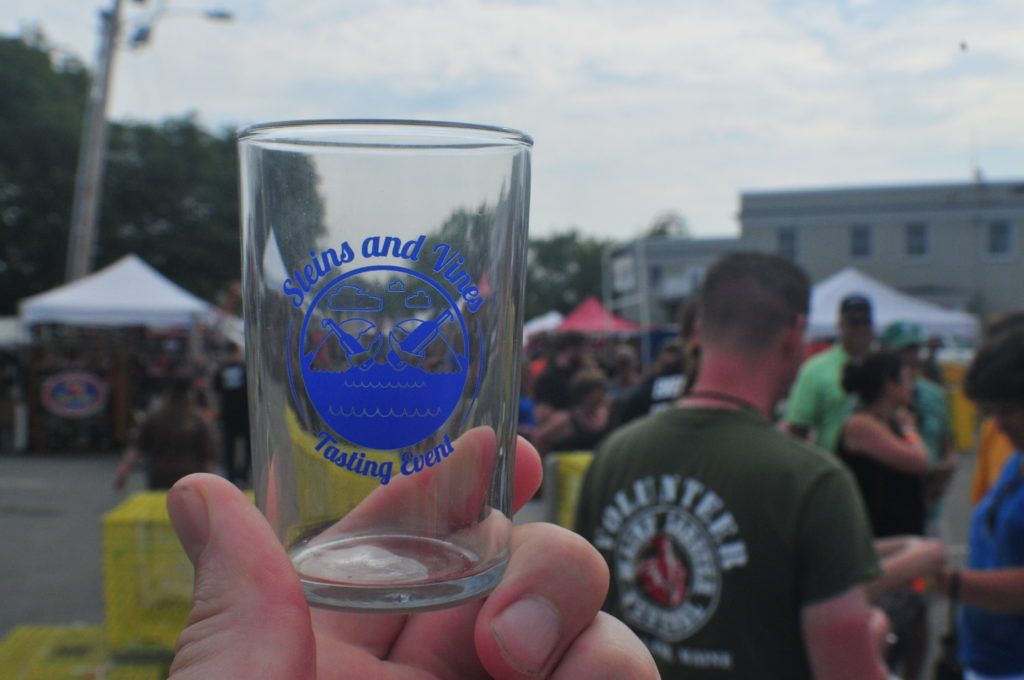 9 things you didn't know about the maine lobster festival - steins and vines tasting event glass