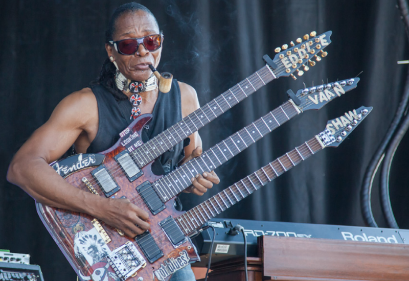 things you didn't know about the north atlantic blues festival - three necked guitar performer