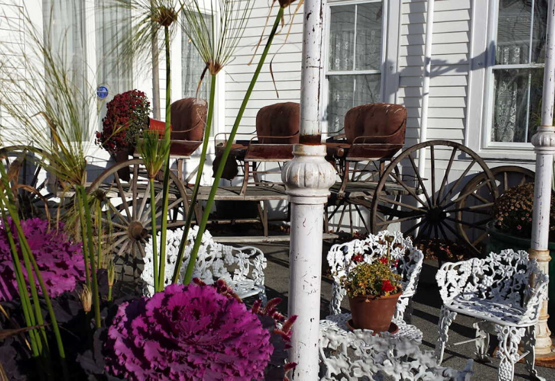 back patio - Shopping Rockland Maine - Rockland Marketplace Antiques