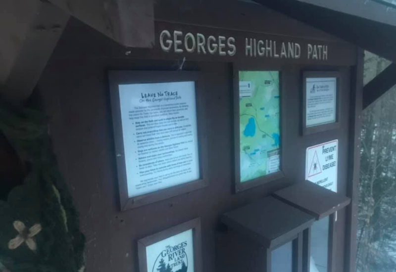 georges highland trail - hiking rockland maine